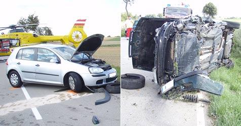 Drei Verletzte bei Verkehrsunfall in Hollabrunn (Bild: FF Hollabrunn)