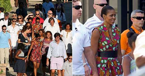 Michelle Obama mit Tochter Sasha auf Stadtbesichtigung