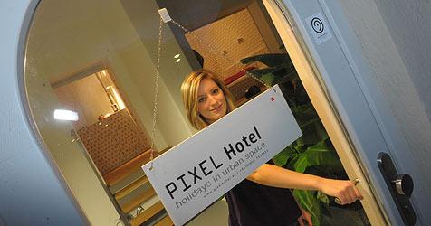 """Linzer """"Pixels"""" bleiben Hotelszene erhalten (Bild: Christian Koller)"""