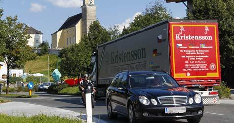 25.000 Autos pro Tag im Ortszentrum von Bergheim (Bild: MARKUS TSCHEPP)
