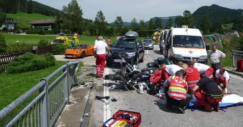 Motorradunfall in Göstling/Ybbs - Schwerverletzte (Bild: ÖAMTC)