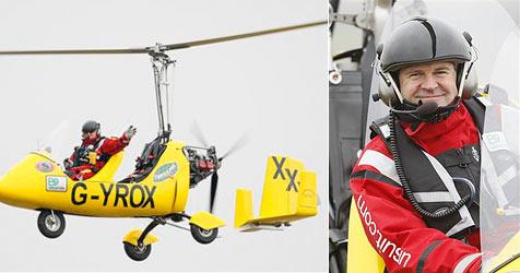"Mann umrundet im ""Mini-Helikopter"" die Welt"