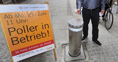 Poller sorgen für weniger Verkehr in der Salzburger City (Bild: APA/Barbara Gindl)