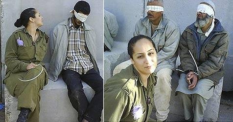 Soldatin posiert mit Gefangenen auf Facebook