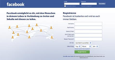 Facebook �berholt erstmals Google in den USA (Bild: Screenshot Facebook.com)