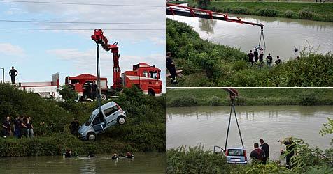 Zwei Argentinier retten Lenkerin aus der Großen Tulln (Bild: Stadtfeuerwehr Tulln)
