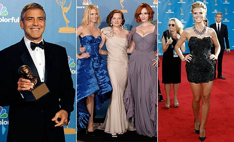 Hollywood-Glamour und Klum im heißen Fummel bei Emmys (Bild: Ap, EPA)