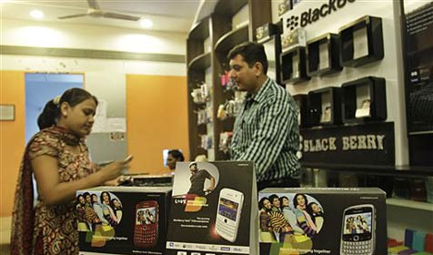 Ultimatum in Indien für Blackberry-Hersteller läuft ab