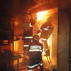 Holz-Wohnhaus in St. Georgen schwer beschädigt (Bild: FF St. Georgen/Gusen)