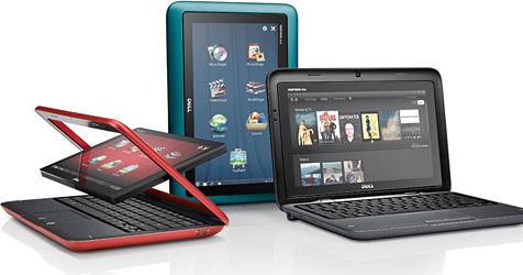 """Dells """"Inspiron Duo"""" ist Tablet und Netbook in einem (Bild: Dell)"""
