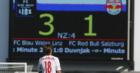Blau-Weiß Linz deklassiert Red Bull im Cup mit 3:1 (Bild: ANDREAS TRÖSTER)