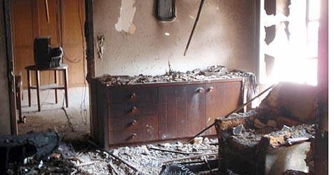 Wohnhaus durch Feuer stark beschädigt (Bild: FF Rohrbach)