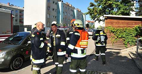 Feuerwehr rückt wegen rauchendem Griller aus (Bild: kerschi)