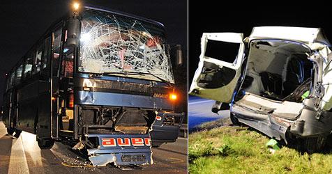 Crash mit Bus aus Steyr - Lenker hatte Herzinfarkt (Bild: dpa/Armin Weigel)