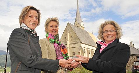 Ministerliche Hilfe für Kirchenjuwel in Sankt Leonhard (Bild: Roland Holitzky)