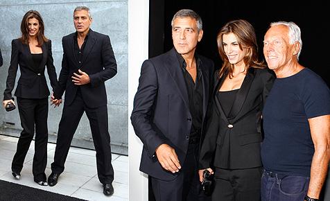 Clooney und Canalis im Partnerlook bei Giorgio Armani