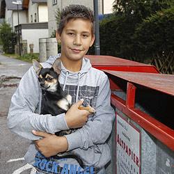 Zwölfjähriger rettete Chihuahua aus Container (Bild: Markus Tschepp)