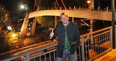 "Neue Brücke - ""Golden Gate"" in Zell am See (Bild: Niki Faistauer)"