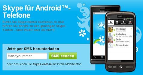 Skype veröffentlicht App für Android-Handys