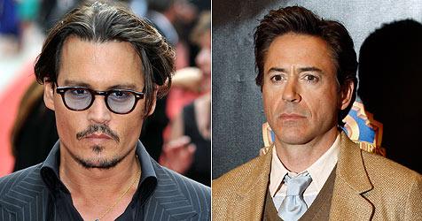 Johnny Depp und Robert Downey Jr. zu matt zum Drehen