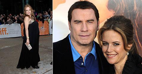 Täuscht Travoltas Frau Kelly Preston Babybauch nur vor?