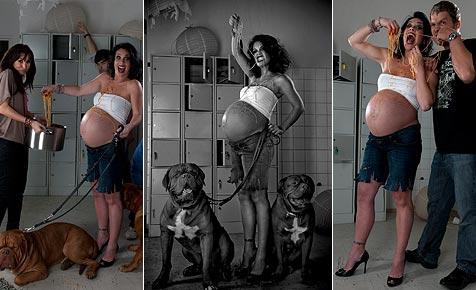 Adriana Zartl zeigt ihren kugelrunden Babybauch (Bild: Manfred Baumann)