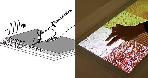 Touch-Display von Disney lässt Nutzer Oberflächen fühlen (Bild: teslatouch.com)