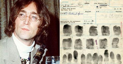 FBI beschlagnahmt John Lennons Fingerabdrücke