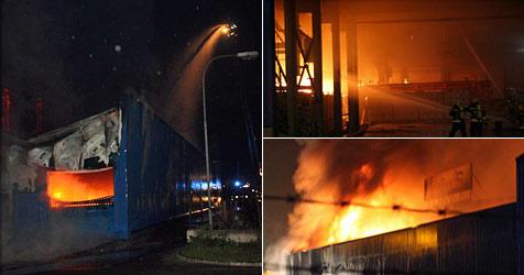 Großbrand in Krems  durch elektrischen Defekt ausgelöst (Bild: Freiwillige Feuerwehr Krems)