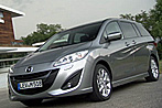 Mazda 5 - fließendes Wasser mit Schiebetüren