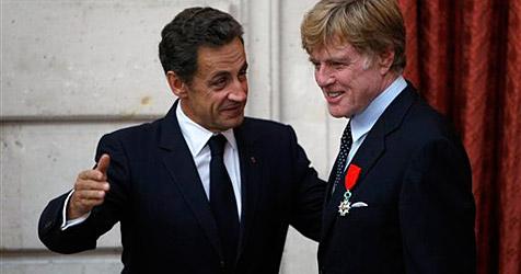 Sarkozy ernennt Redford zu Ritter der Ehrenlegion