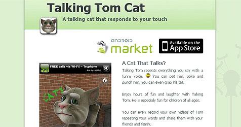 Abo-Fallen setzen auf Smartphones in Kinderhänden (Bild: http://outfit7.com/apps/talking-tom-cat/)