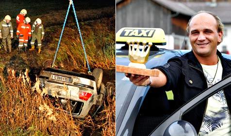 Taxler rettet 15-J�hrige nach Unfall vor dem Ertrinken (Bild: Markus Tschepp)