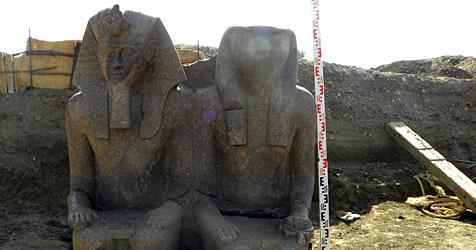 3.400 Jahre alte Pharaonen-Statue entdeckt