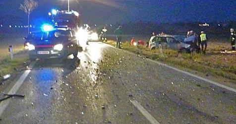 Ein Toter und fünf Verletzte bei Crash auf der B43 (Bild: ÖAMTC)