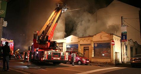 Internetcafé in Linzer Innenstadt völlig ausgebrannt (Bild: Feuerwehr Linz)