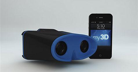 Hasbro bringt billige 3D-Brille für iPod und iPhone (Bild: AP)