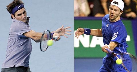 Roger Federer serviert Jürgen Melzer eiskalt ab