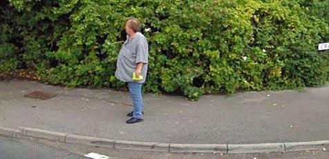 Brite verordnet sich nach Street-View-Bild Radikaldiät