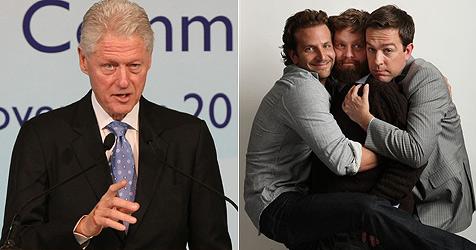 "Ex-Präsident Bill Clinton spielt in ""Hangover 2"" mit"