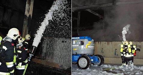 Fünf Wochen später wieder Feuer bei Firma in Krems (Bild: Freiwillige Feuerwehr Krems)