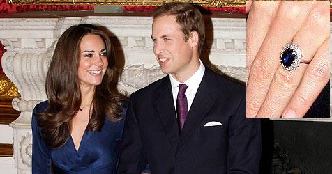 Prinz William schenkte seiner Kate Dianas Ring