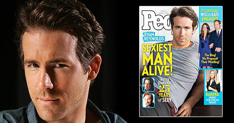 "Ryan Reynolds zum ""Sexiest Man Alive 2010"" gekürt"