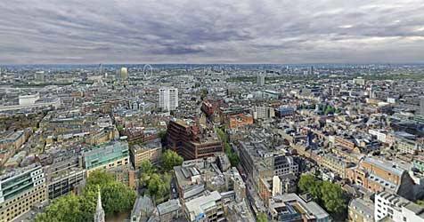 London als 80-Gigapixel-Bild aus 7.886 Einzelbildern (Bild: 360cities.net/ Jeffrey Martin)
