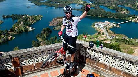 649 Stufen in 43 Minuten erklommen - mit dem Fahrrad