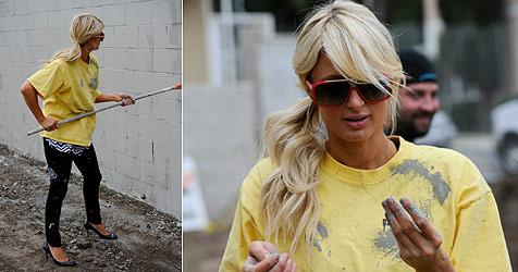 Paris Hilton arbeitet ihre Sozialstunden in High Heels ab