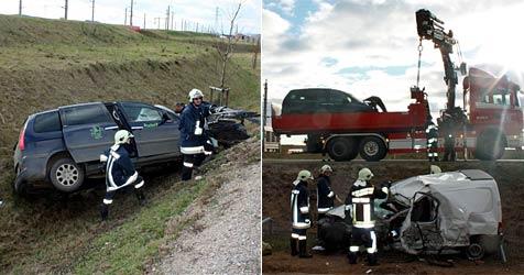 31-jähriger Lenker  bei Pkw-Crash in Judenau getötet (Bild: Feuerwehr Tulln)