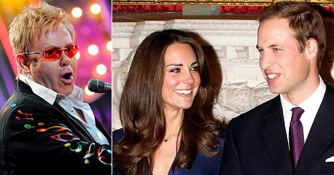 Elton John singt bei der Hochzeit von William und Kate