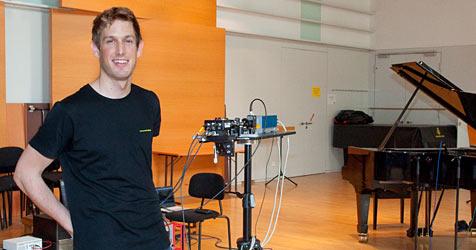 Forscher der TU Wien erfindet Laser-Mikrophon (Bild: TU Wien)