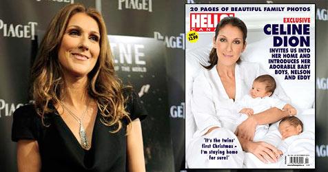 """Celine Dion zeigt ihre süßen Zwillinge Nelson und Eddy (Bild: AP, Cover """"Hello"""")"""